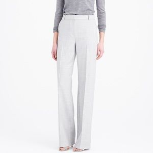 J Crew 1035 Trouser in Super 120s Wool Grey